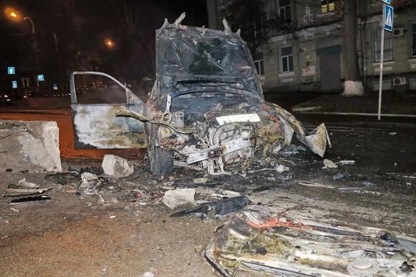 Вцентре столицы Украины зажегся автомобиль: двое пострадавших