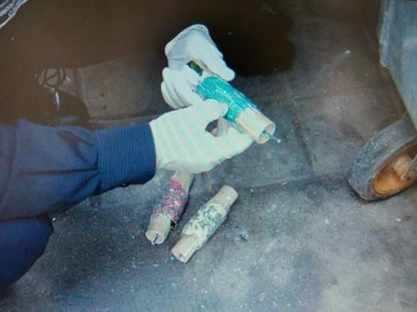 Вмусорном баке вцентре столицы Украины  отыскали  самодельное взрывное устройство