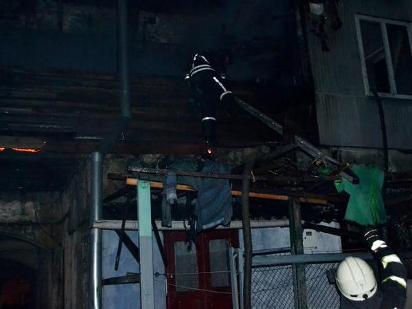 Пожар вОдессе: сгорело семь квартир
