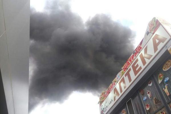 При пожаре наодесском рынке «Северный» пострадали двое патрульных