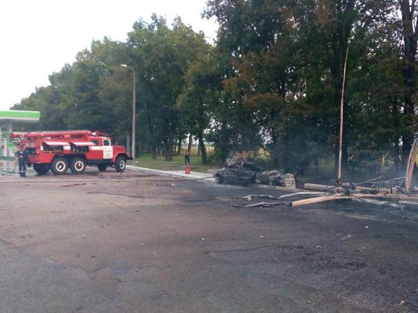 ВКиевской области наАЗС произошел пожар, есть погибший