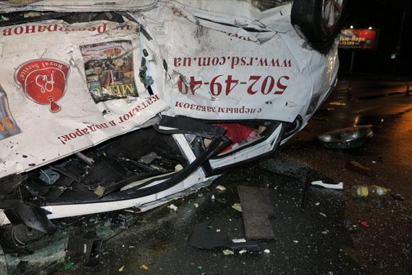 ВКиеве вужасном ДТП погиб человек, тяжело травмирован 4-месячный ребенок