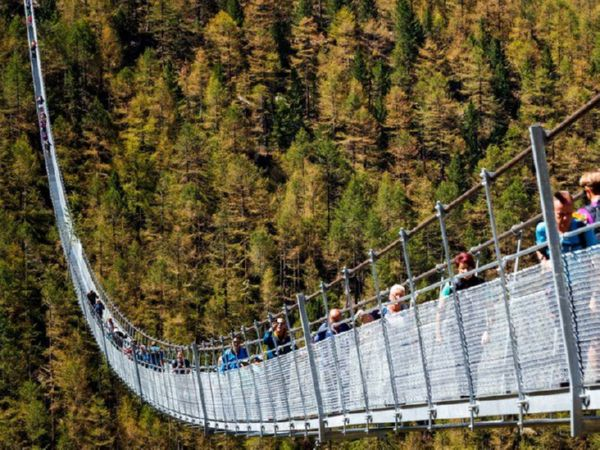 ВШвейцарии открыли самый длинный вмире пешеходный висячий мост— Дух захватывает