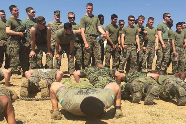 Украинские морские пехотинцы приняли участие вмногонациональных учениях вБолгарии