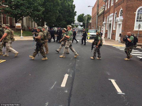 ВШарлоттсвилле в итоге  столкновений умер  один человек