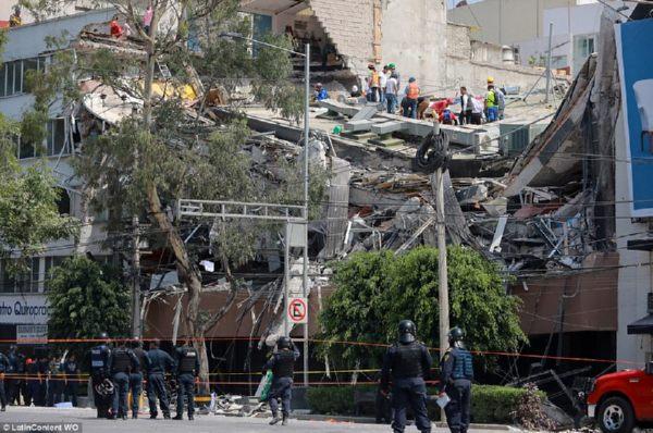 ВМексике случилось мощное землетрясение