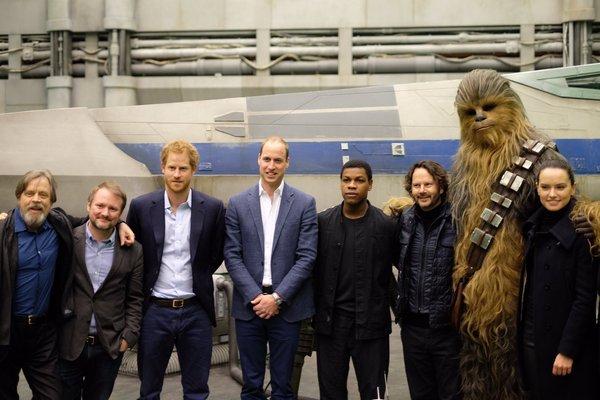 Принцы Уильям иГарри снимаются в«Звездных воинах»