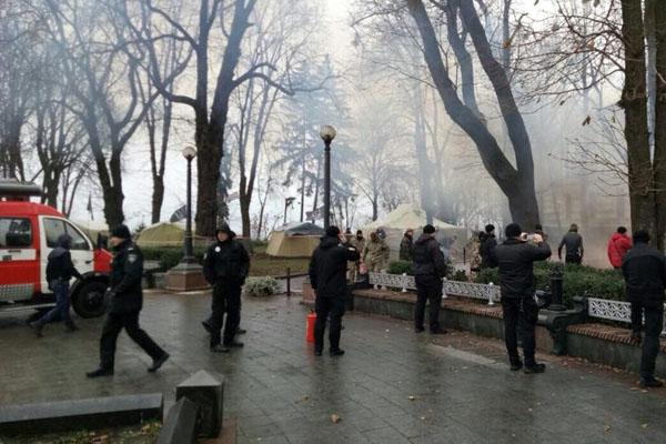 Впалаточном городке под Радой произошел пожар