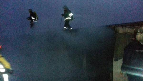 ВКаменском горел модульный городок для переселенцев: необошлось без жертв