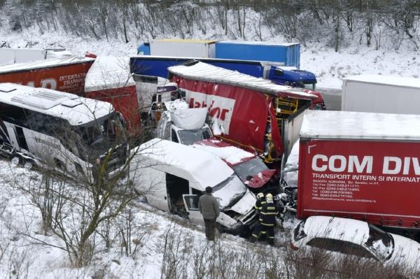 Наюге Чехии случилось массовое ДТП сучастием неменее 40 машин