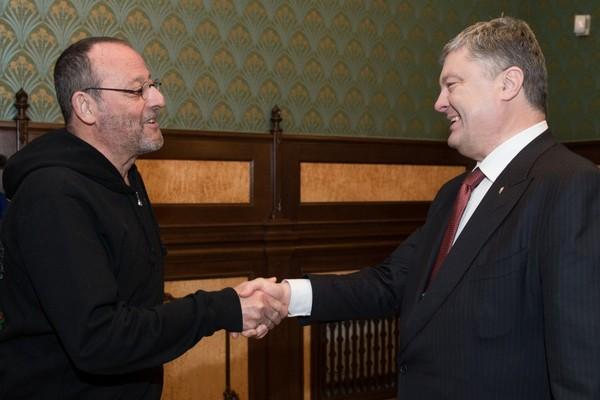 Жан Рено иПорошенко хотят снимать фильмы вУкраинском государстве