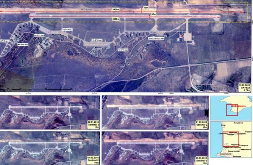 Воккупированном Крыму нааэродроме «Бальбек» строят вторую взлетно-посадочную полосу