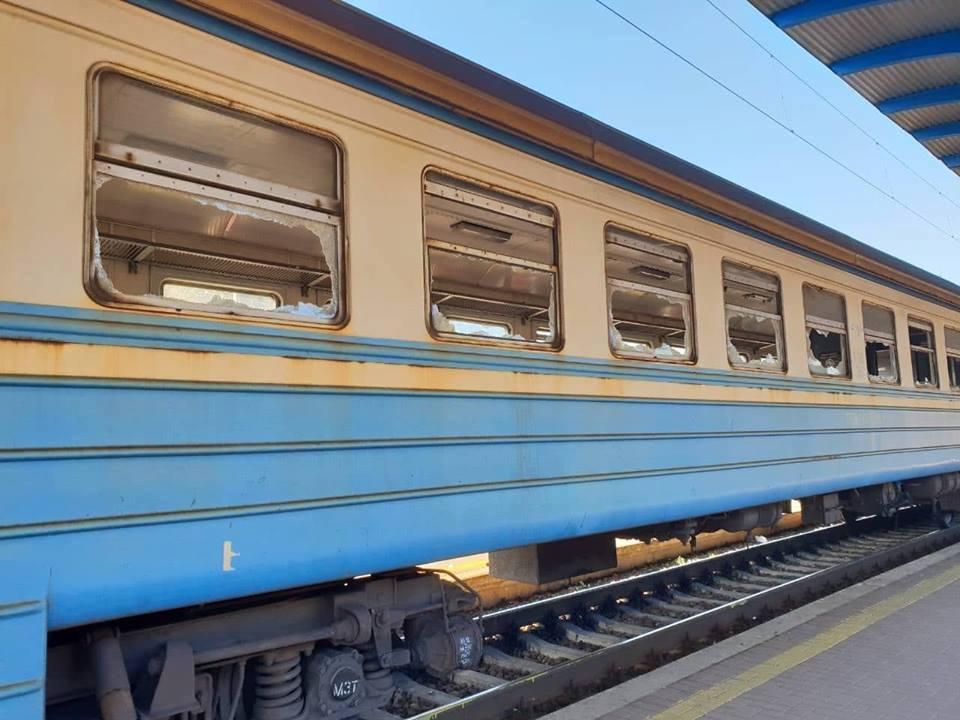 ВКиевской области разгромили вагон электрички