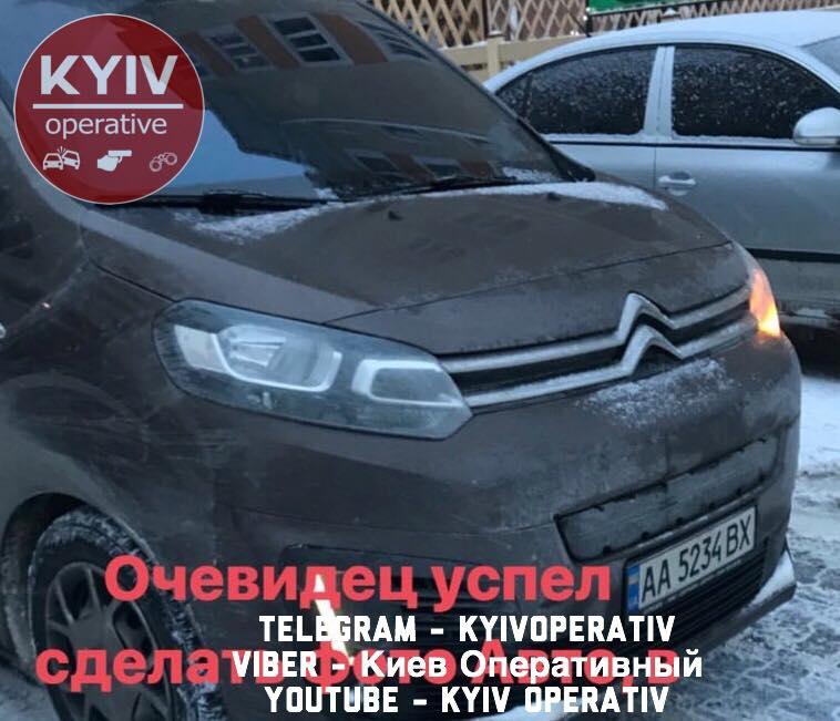 Под Киевом похитили человека: в сети показали видео с места ЧП
