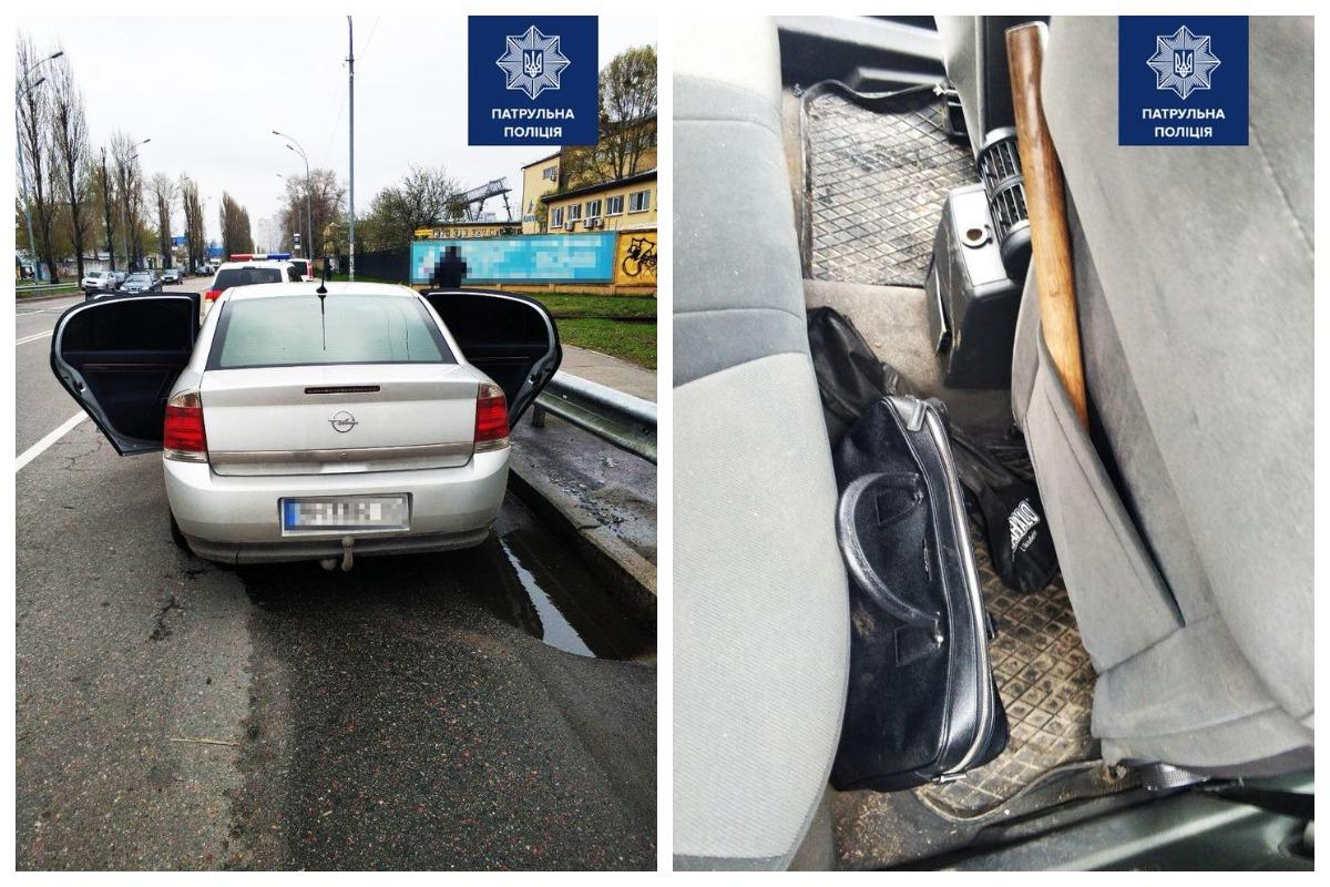 Избили и забрали сумку: в Киеве копы с погоней задержали наглых грабителей