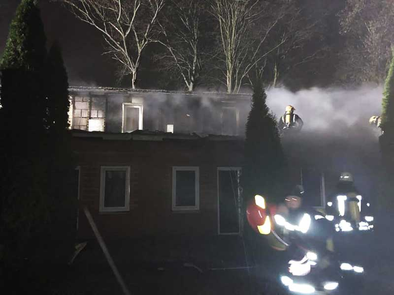 Пожар в Киеве: огонь охватил отель
