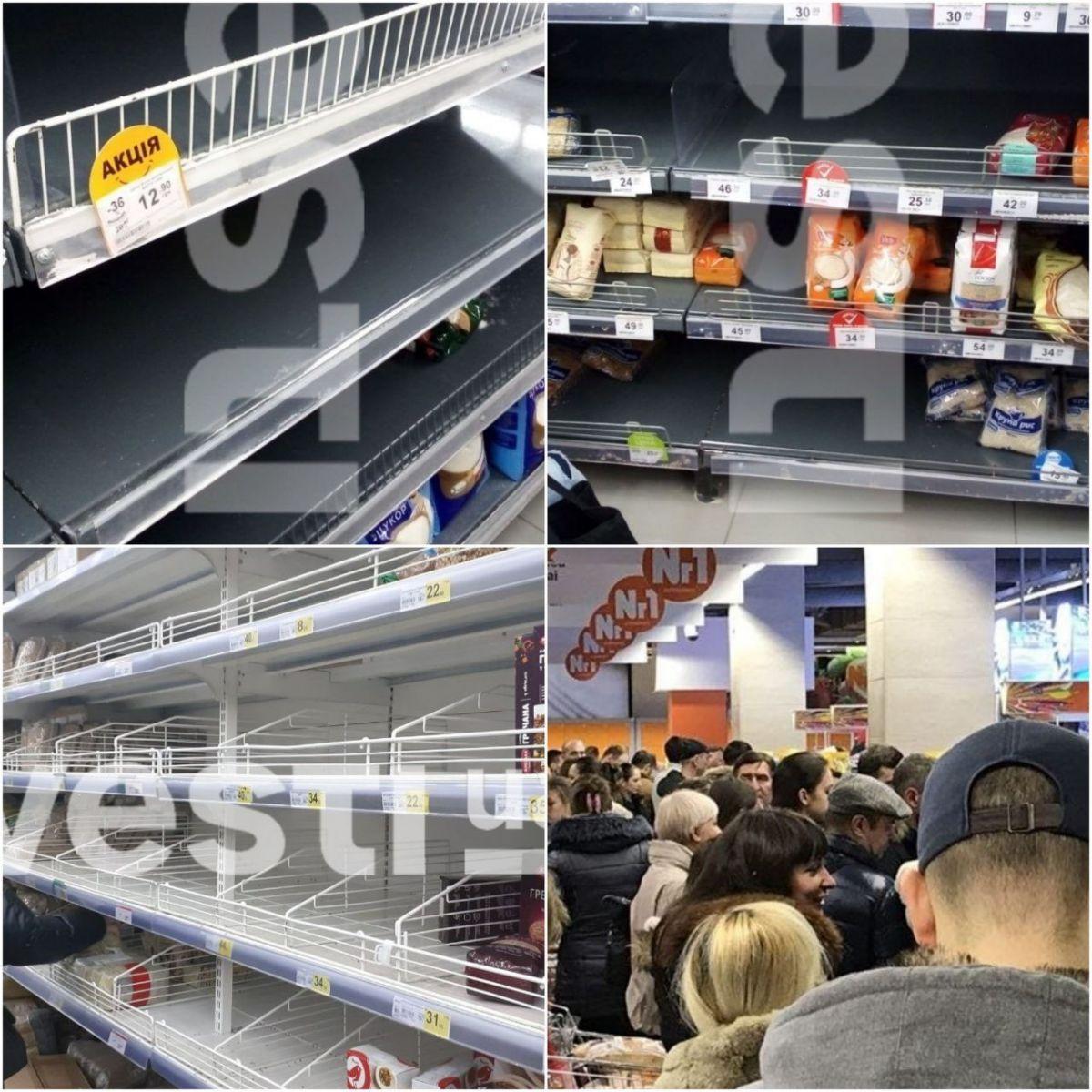 У магазинах Києва почався продуктовий ажіотаж