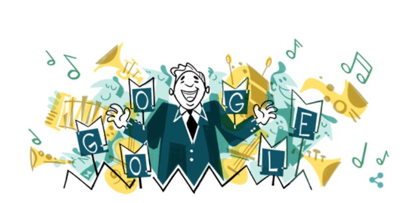 Google посвятил яркий дудл Леониду Утесову