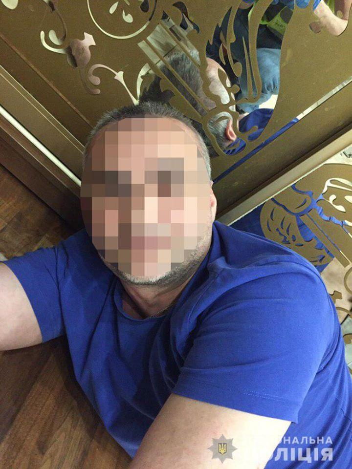 Появилось видео видео задержания преступников укравших полмиллиона в Киеве